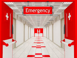 An emergency room where a patient will be treated for stroke, possibly because of medical malpractice.
